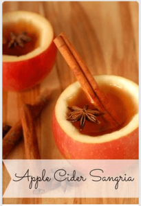 trending pinterest pin about apple cider sangria