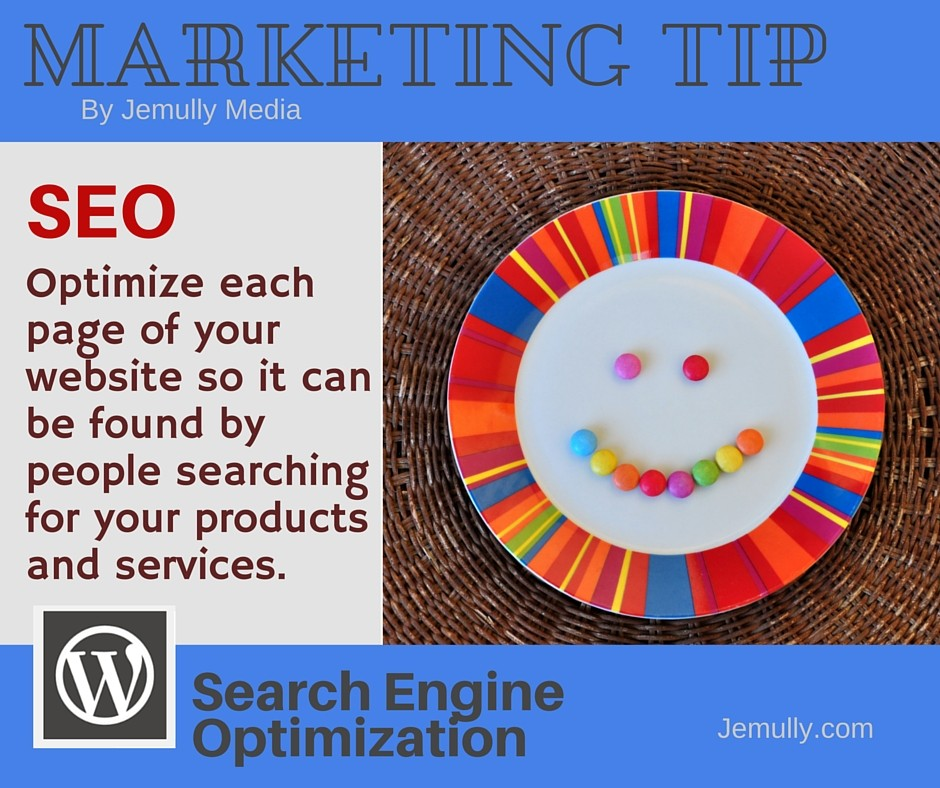 Marketing Tip - SEO Optimize Each Page