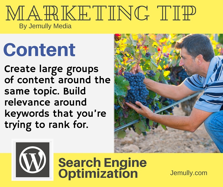 Marketing Tip - Content for keyword ranking.