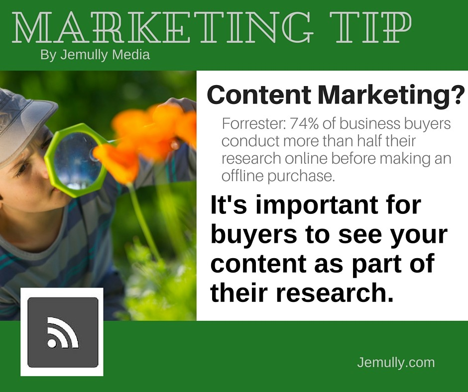 Marketing Tip - Content Marketing research