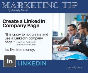 Tip 1 - Create a LinkedIn Company Page
