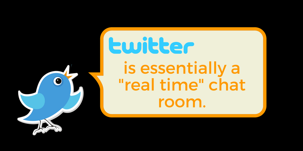 What Is Twitter? Twitter is essentially a real time chat room.