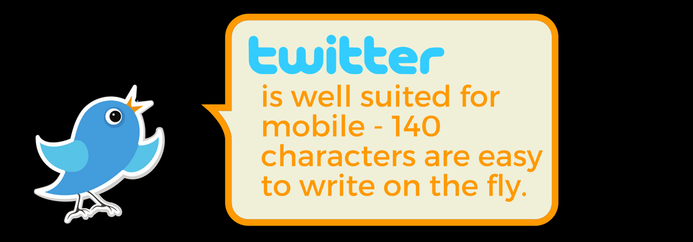 What Is Twitter? Twitter, and its 140-character limit. is well-suited for mobile.