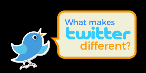 What makes Twitter different than other social media platforms?