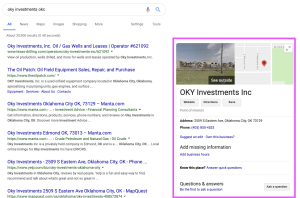 Desktop View of Google Knowledge Panel
